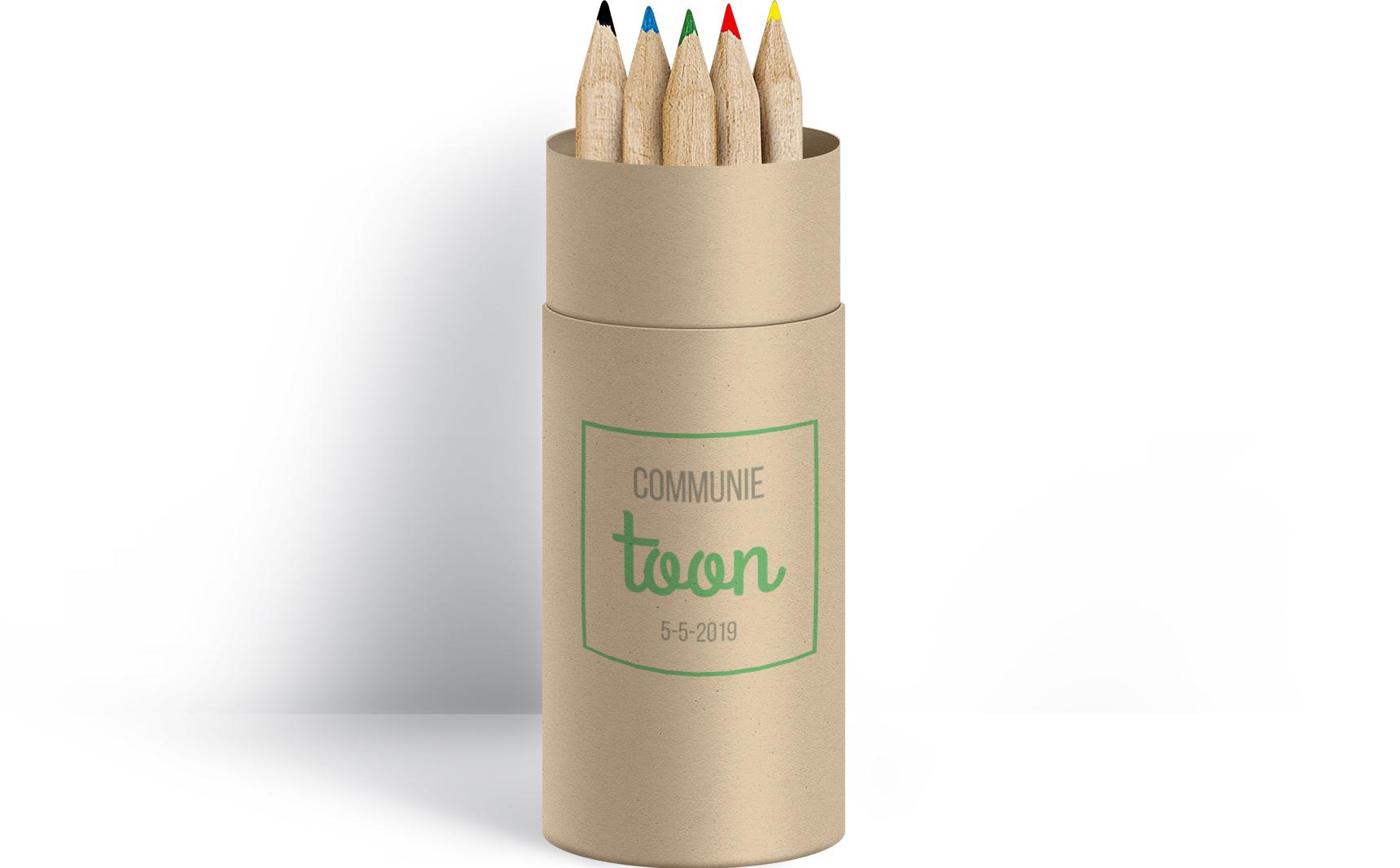 Voorbeeld gegraveerde potloden