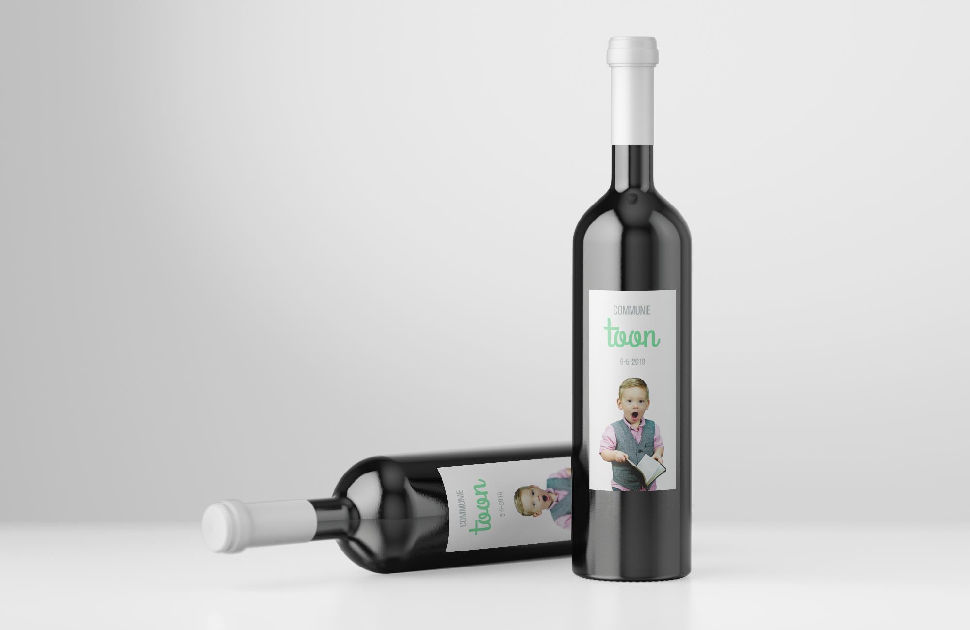 Voorbeeld wijnetiketten