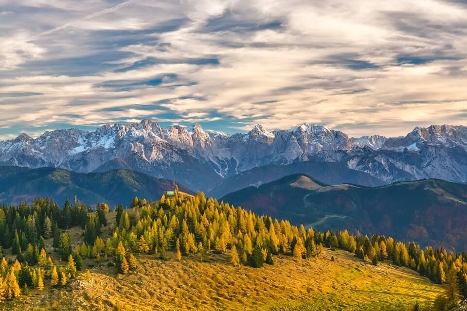 En promenade dans les Alpes autrichiennes.