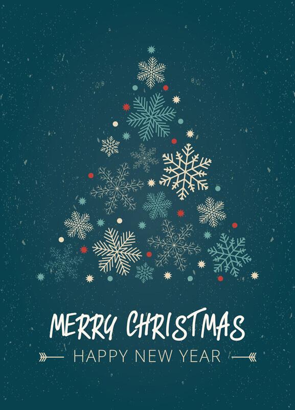 Voorbeelden Van Klassieke Kerstkaarten Flyer Be