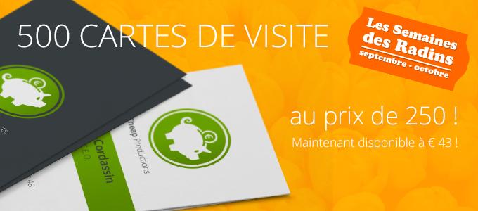 500 Cartes De Visite Luxe Au Prix 250