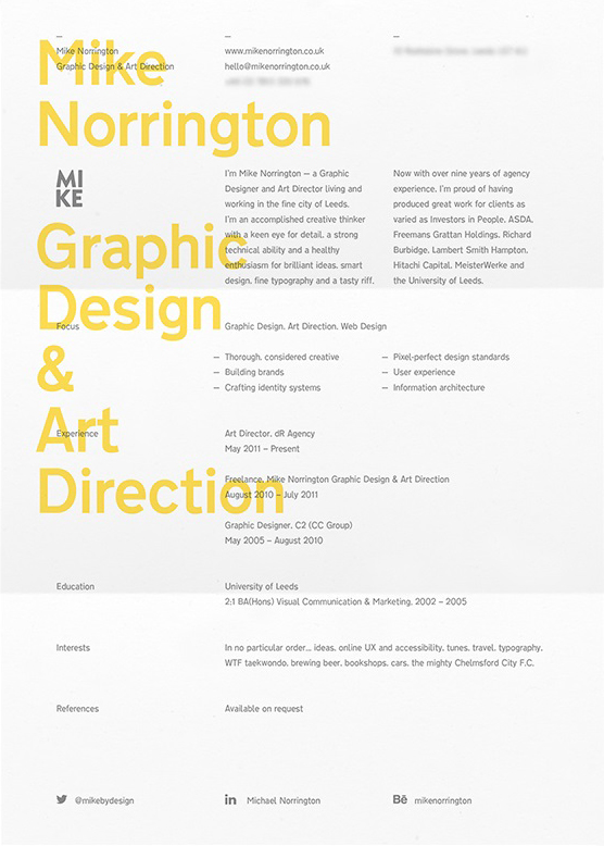 Mike Norrington Graphic Design & Art