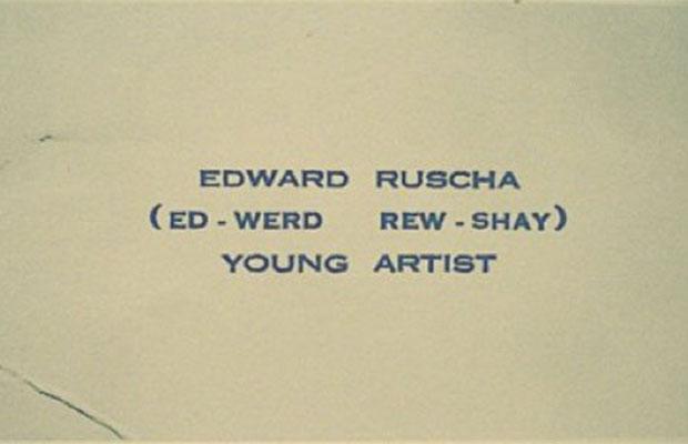 Edward Ruscha, Amerikaans kunstenaar uit de popart-beweging